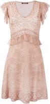 Roberto Cavalli fine knit flared dress - women - Viscose/Polyester/Polyamide/Silk - 40