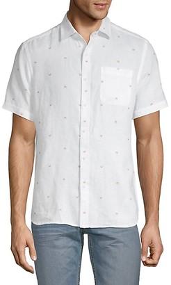 Saks Fifth Avenue Crab-Print Linen Button-Down Shirt