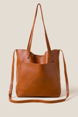 francesca's Rosie Soft Leather Tote - Brown
