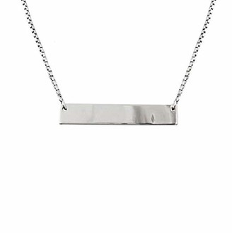 Sparkling Jewellery Women Silver Pendant Necklace of Length 44cm solid-bar silver