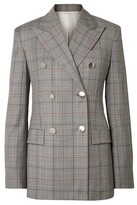 Calvin Klein 205w39nyc Double-breasted Prince Of Wales Checked Wool Blazer