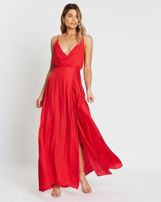 Atmos & Here Arielle Wrap Slip Dress