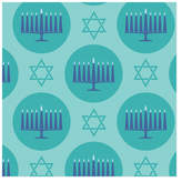 Minted Menorah Medallions Self-Launch Wrapping Paper