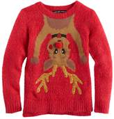 It's Our Time Its Our Time Girls 7-16 & Plus Size Fuzzy Ugly Christmas Sweater