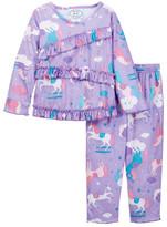 Sara's Prints Sara&s Prints Show Pony Ruffle Pajamas (Toddler, Little Girls, & Big Girls)
