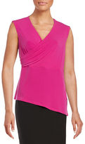 T Tahari Kinley Sleeveless Surplice Top