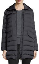 Moncler Indis Fur-Collar Puffer Jacket, Charcoal