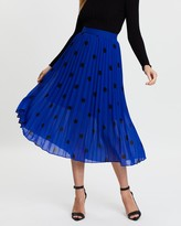 Dorothy Perkins Spot Pleat Midi Skirt