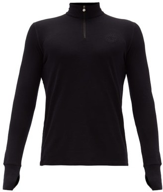 Iffley Road Thorpe Merino-pique Sweater - Black