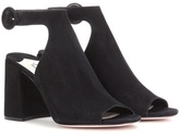 Prada Cut-out suede ankle boots