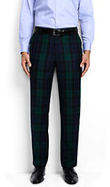 Classic Men's Tailored Fit Blackwatch Flannel Tux Trousers-Blackwatch