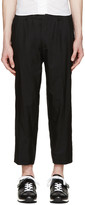 08sircus Black Tropical Wool Trousers