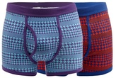 Red Herring Pack Of Two Multi-coloured Houndstooth Trunks