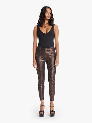 Mother The High Waisted Seamless Looker Ankle - Black