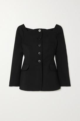 Carolina Herrera Wool-blend Peplum Jacket - Black