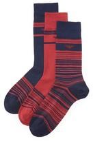 Emporio Armani 3 Pack Stretch Cotton Crew Socks