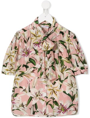 Dolce & Gabbana Kids Lily Print Shirt