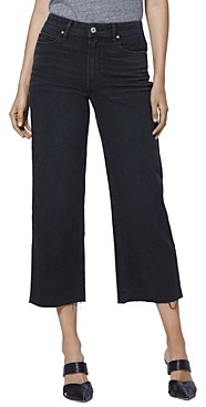 Paige Nellie Culotte Jeans in Black Sand