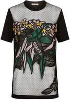 Elie Saab Sheer Embroidered T-Shirt