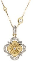 Jude Frances Beaded Diamond Wrapped Clover Pendant - Yellow Gold