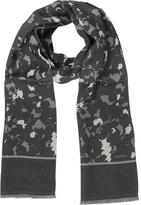Lanvin Black & Gray Wool and Silk Men's Scarf