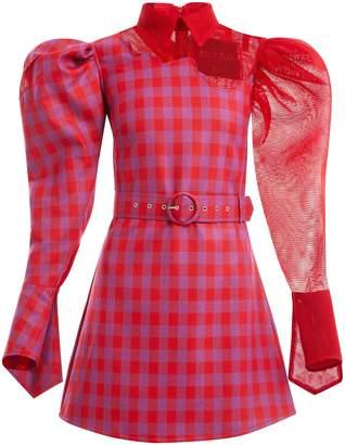 Thebe Magugu Short tartan dress