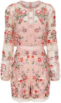 Needle & Thread Pink Embellished Meadow Playsuit