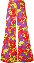 Rosie Assoulin floral flared trousers - women - Cotton/Viscose - 2