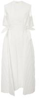 DELPOZO Textured Cotton Midi Dress