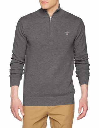 Gant Men's Cotton Pique Half Zip Sweater