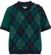 Burberry Argyle Wool-blend Sweater - Green