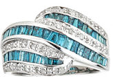 FINE JEWELRY LIMITED QUANTITIES Color-Enhanced Blue Diamond Sterling Silver Ring