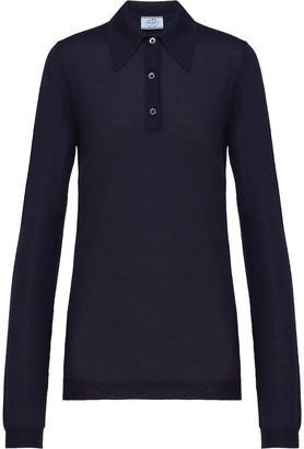 Prada Cashmere Knitted Polo Shirt