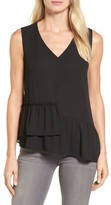 Halogen Women's Drop Ruffle Tank Top