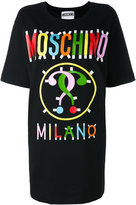 Moschino printed T-shirt dress - women - Cotton/other fibers - 40