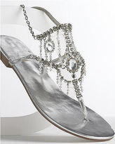 Rhinestone-trim sandals