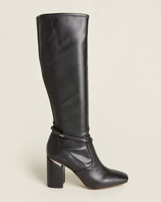 Franco Sarto Black Roxanne Tall Stretch Boots