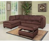 Abbyson LIVING Delano Sectional Sofa and Storage Ottoman Set