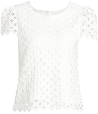 Milly Lace Eyelet Tee