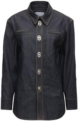 Bottega Veneta Cotton Denim Shirt W/ Metal Buckles