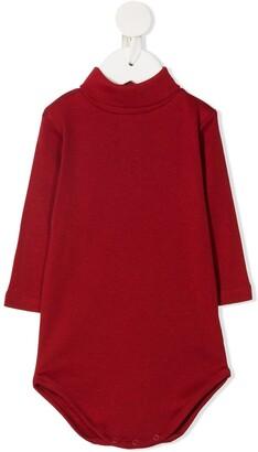 Bonpoint Turtleneck Long-Sleeve Bodysuit