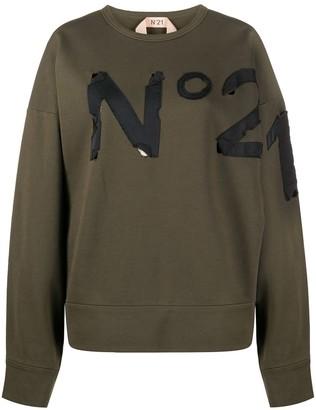 No.21 Logo Cotton Sweatshirt