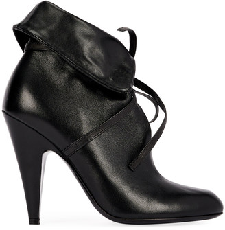 Tom Ford 105mm Napa Ankle-Tie Cuff Booties