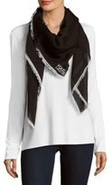 Karl Lagerfeld Abstract Print Fringed Scarf