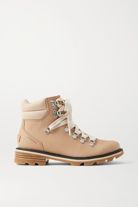 Sorel Lennox Hiker Waterproof Brushed-leather Ankle Boots - Sand