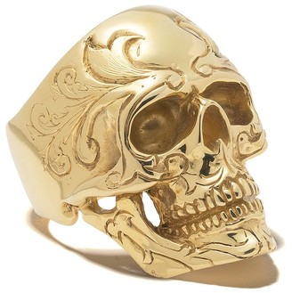 The Great Frog engraved skull ring