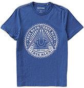 True Religion Short-Sleeve Sunburst Logo Tee