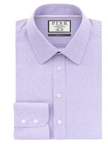 Thomas Pink Eno Texture Slim Fit Button Cuff Shirt
