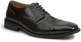 Giorgio Brutini Black Textured Cap-Toe Leather Oxford