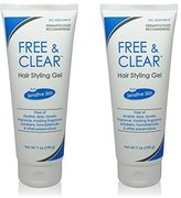 Free & Clear Hair Styling Gel, 7 Ounce (Pack of 2)